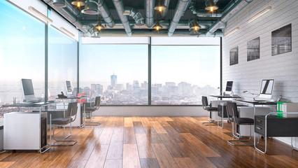 Modern office interior. 3d illustration Fotomurales