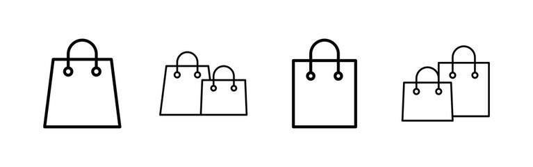 Shopping bag icons set. Shopping bag vector icon