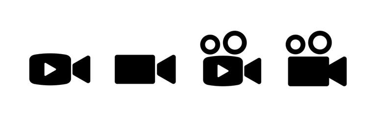 Fototapeta Video camera icons set. Video camera vector icon. Camera Icons. Movie Sign. Cinema obraz