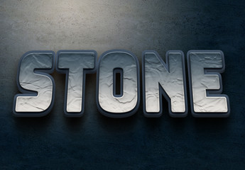 Stone 3D Text Effect Mockup