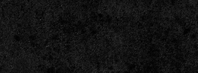 Black background of a texture of cement wall, stone and concrete, with some little moss - Dark stage background - Large panoramic format Fototapete