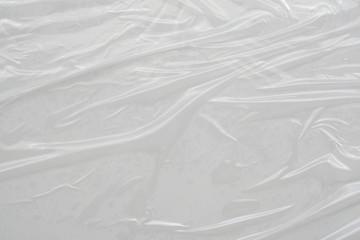 Fototapeta White plastic film wrap texture background obraz