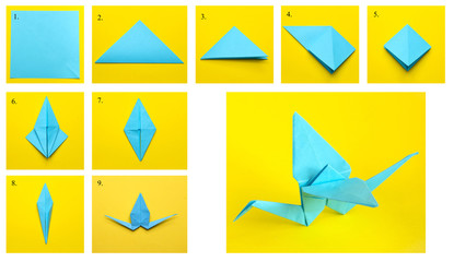 How to make an easy origami crane? follow step by step to learn ... | 240x415