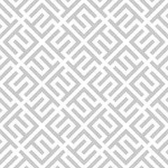 Fotorolgordijn Geometrisch Abstract geometric pattern. A seamless vector background. White and grey ornament. Graphic modern pattern. Simple lattice graphic design.