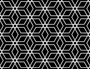 Fotorolgordijn Geometrisch The geometric pattern with lines. Seamless vector background. White and black texture. Graphic modern pattern. Simple lattice graphic design
