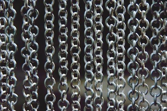 Full Frame Shot Of Chains