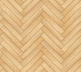 Obraz Vector seamless pattern with wooden zigzag planks. Old wood herringbone parquet floor background - fototapety do salonu