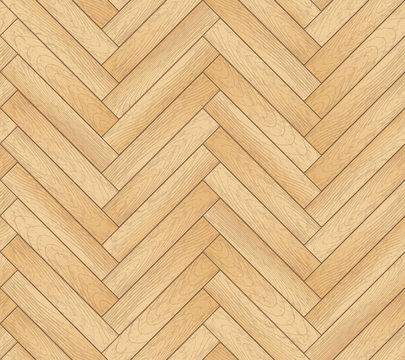 Vector seamless pattern with wooden zigzag planks. Old wood herringbone parquet floor background