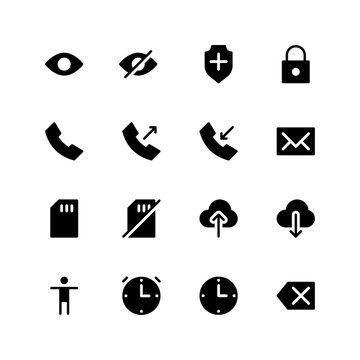 vector illustration of user interface icons