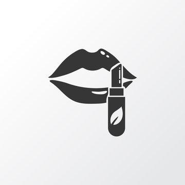 Lip balm icon symbol. Premium quality isolated lipstick element in trendy style.