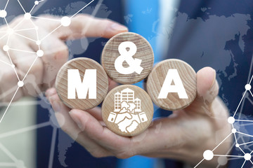 Mergers and Acquisitions Business Company Cooperation Concept. M&A Deal Partnership.