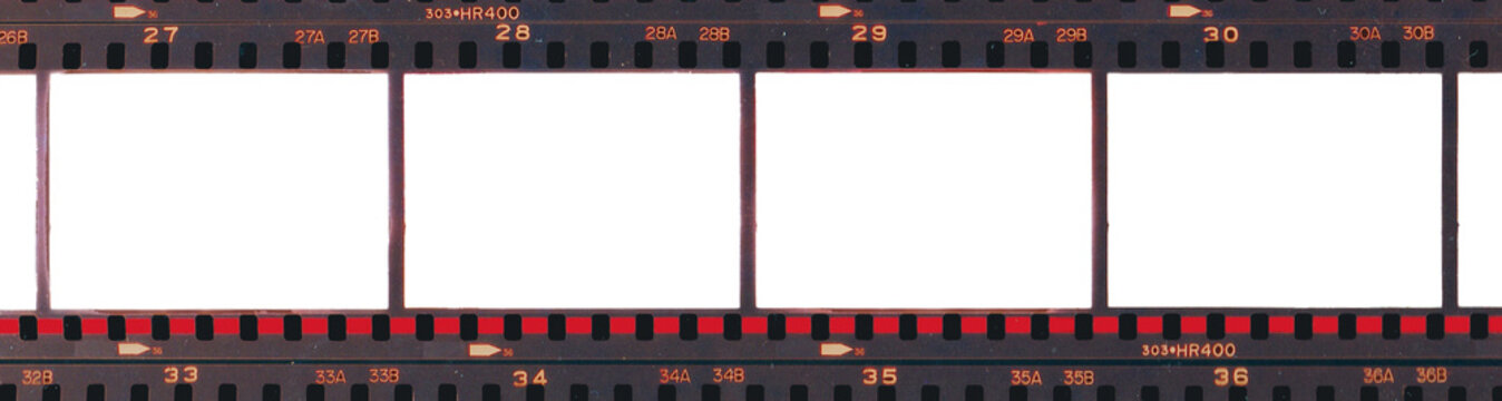 Contact print frames 33-36