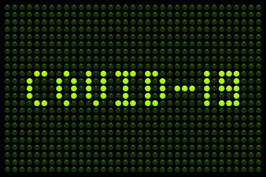 Covid-19 Message on a LED Board