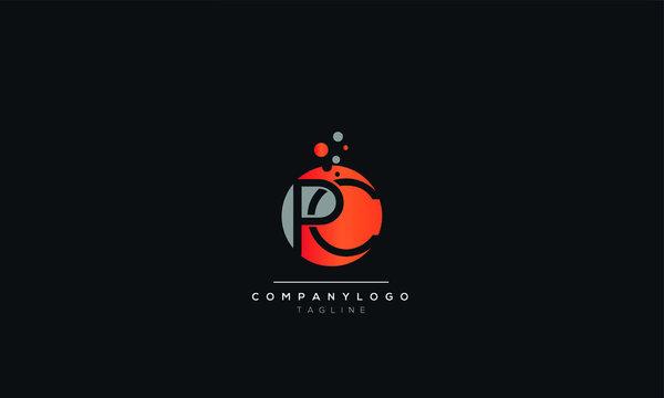 PC Letter Logo Design Icon Vector Symbol