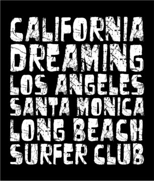 California tshirt graphic design vector art