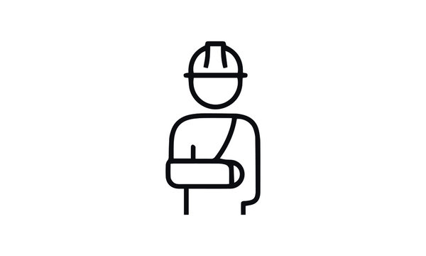 Workplace Injury icon vector design