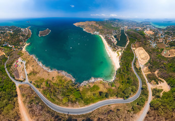 Wall Mural - Aerial view of the coastline of Phuket island in Thailand