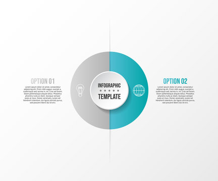Concept of infographic layout. Diagram with business icons. Vector