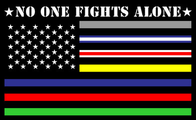 no one fights alone