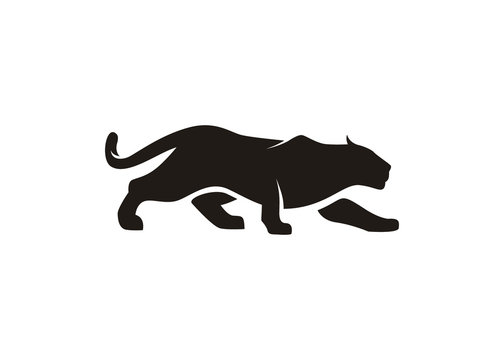 Jaguar Puma Cheetah Panther silhouette logo design inspiration