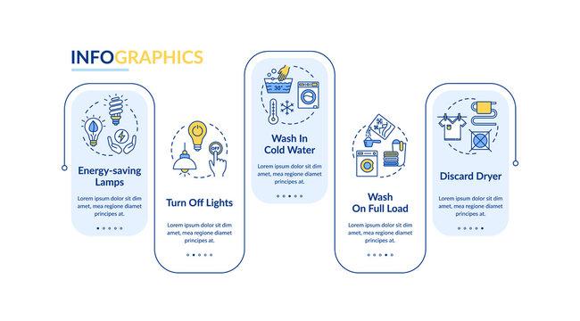 Energy efficiency vector infographic template