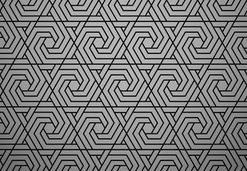 Fotorolgordijn Geometrisch Abstract geometric pattern. A seamless vector background. Black ornament. Graphic modern pattern. Simple lattice graphic design
