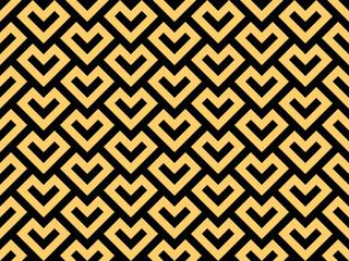 Fotorolgordijn Geometrisch Abstract geometric pattern. A seamless vector background. Black and gold ornament. Graphic modern pattern. Simple lattice graphic design