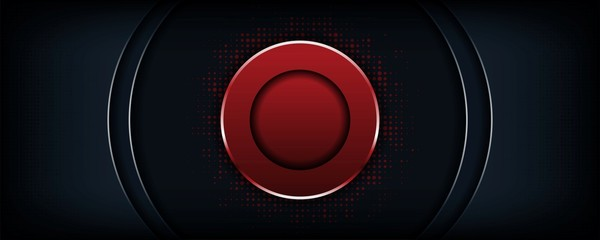 abstract luxury dark background with red circle shape Wall mural