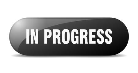 in progress button. in progress sign. key. push button. Fotomurales