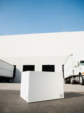 Box outside warehouse