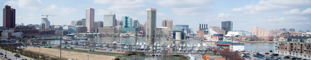 Panoramic View Of Maryland Cityscape Against Sky