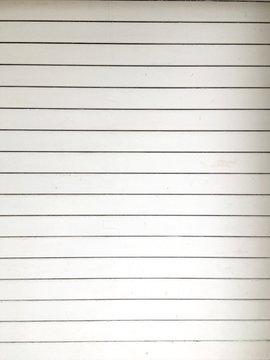 Full Frame Shot Of Blank Lined Paper