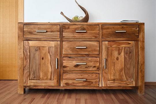 Old solid wood furniture