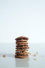 Stack of handmade peanut cookies