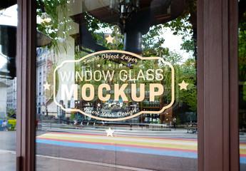 Window Glass Logo Mockup