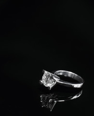 Close up of diamond ring / engagement ring