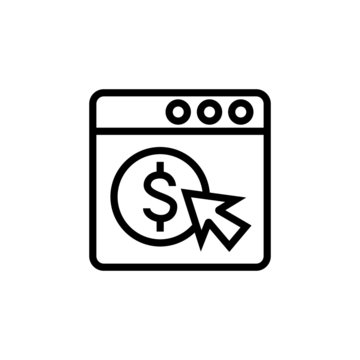 PPC icon in linear, lineout icon style isolated on white background