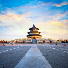 Poster de jardin Pekin The Hall of Prayer for Good Harvests at The Temple of Heaven in Beijing, China
