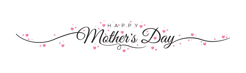 HAPPY MOTHER'S DAY lettering calligraphy banner vector