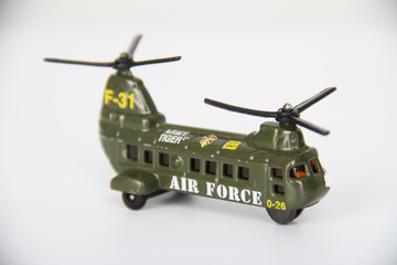 Close up of Boeing CH-47 Chinook toy
