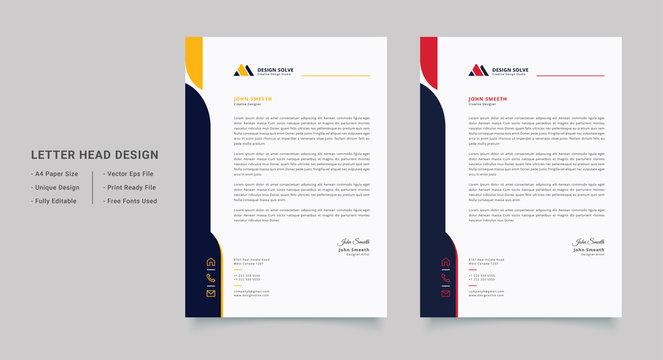 Modern Letterhead Design Template