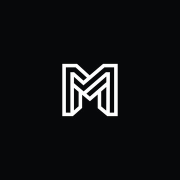Professional Innovative Initial M logo and MM logo. Letter M MM Minimal elegant Monogram. Premium Business Artistic Alphabet symbol and sign