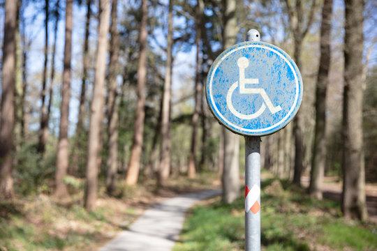 Wheelchair path sign