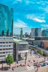 Photo sur Aluminium Rotterdam View Of City Against Cloudy Sky