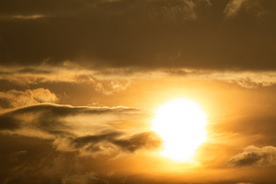 - cloudy sunset -