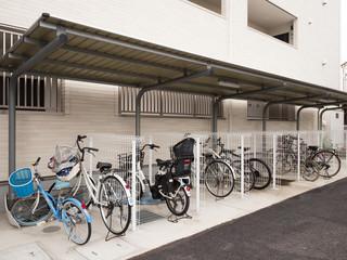 Fototapete - マンションの駐輪場
