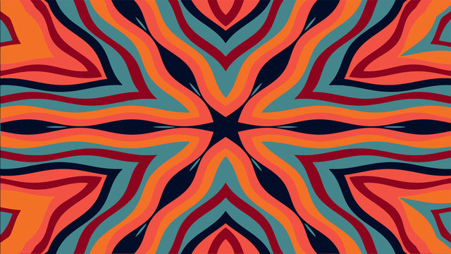 Abstract kaleidoscope style background. Creative ornament. Stock illustration