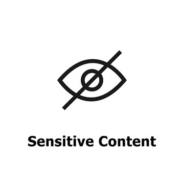 Sensitive content. Eye crossed sign for media content.Censored only adult