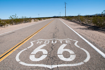 Keuken foto achterwand Route 66 Route 66 highway. California. USA.