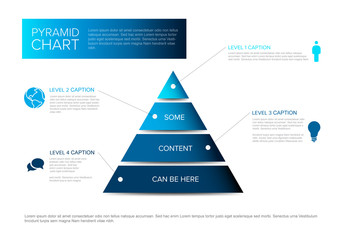 Pyramid Chart Infographic Diagram Layout